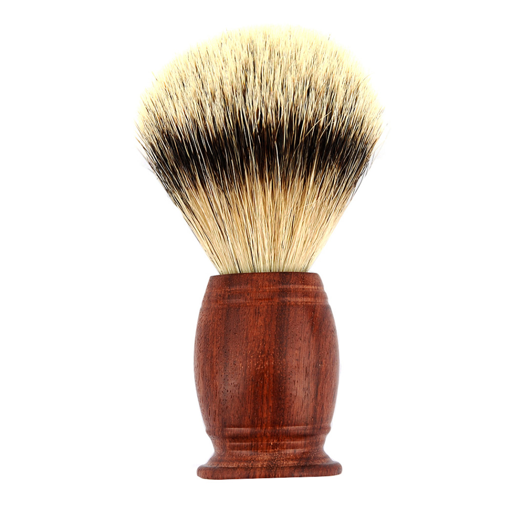 ZY Men 100% SILVERTIP Badger Hair Shaving Brush Rose Wood Best Shave Beard Barber Soap Brushes Gift For Father