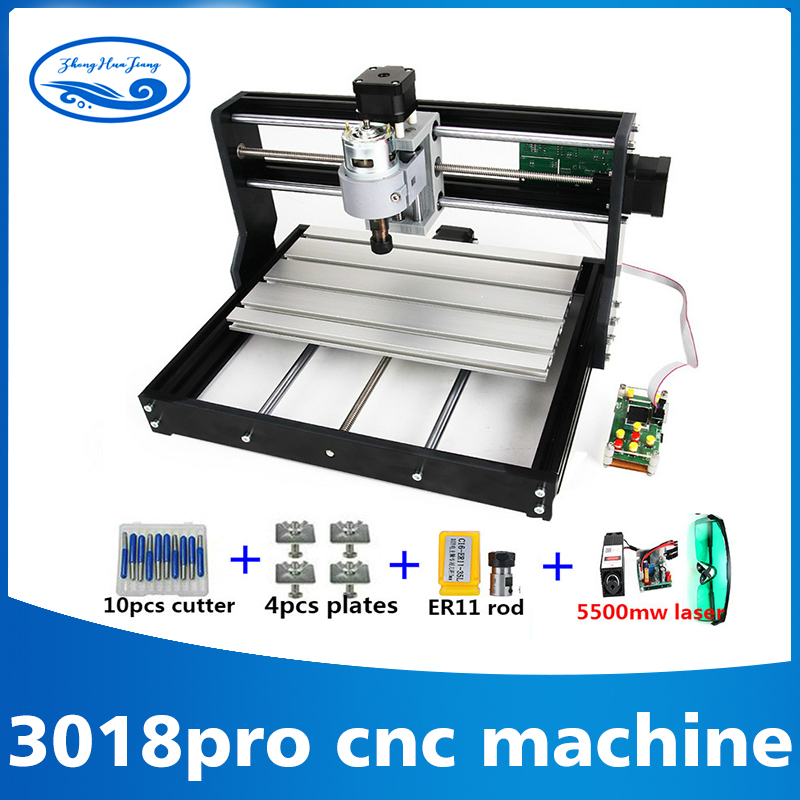 3018 CNC Pro with ER11 GRBL Diy mini machine 3 Axis pcb Milling machine Wood Router