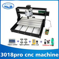 3018 CNC Pro with ER11 GRBL Diy mini machine,3 Axis pcb Milling machine,Wood Router 7w laser engraving,with offline controller