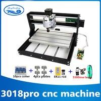 3018 ЧПУ Pro с ER11 GRBL Diy Мини машина, 3 оси печатных плат фрезерный станок, дерево маршрутизатор 7 w лазерная гравировка, с форума контроллер