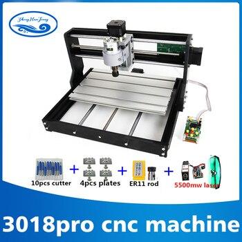 3018 CNC Pro con ER11 GRBL mini macchina Fai Da Te, 3 Assi pcb Fresatura macchina, router di legno 7 w incisione laser, con offline controller