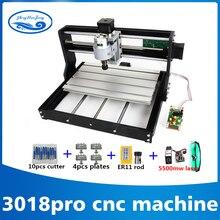 3018 CNC Pro avec ER11 GRBL bricolage mini machine, 3 axes pcb fraiseuse, bois routeur 7 w laser gravure, avec contrôleur hors ligne