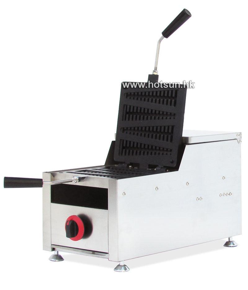 Commercial Non-stick 4 Slice LPG Gas Lolly Waffle Maker Iron Machine commercial non stick 4pcs lpg gas lolly waffle dog maker iron machine
