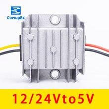 Módulo de transformador de CC montado en vehículo, convertidor de reductor impermeable de 12 V, 24 V a 5V, 3A, 5A, 8A, 10A, 12 V a 5V, DC-DC