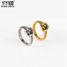 ФОТО 1piece tie a knot  rings men lover's stainless 316l titanium steel vintage fashion trend metal engagement wedding ring finger