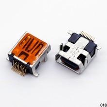 1x  V3 Port 10PIN Mini USB Female Jacks Socket for GPS HDD Chinese Phone F Type Connectors SHORT body