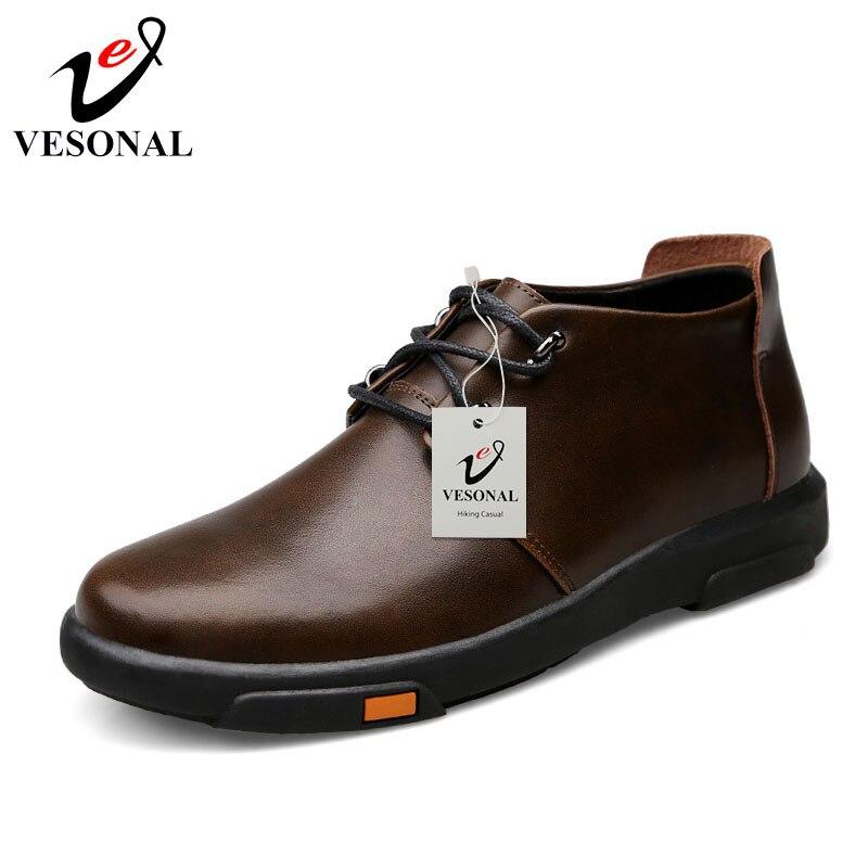 2018 Chaussures À Cuir Vachette Black Mode Shoes Vesonal De brown Mâle Confort Shoes Marque Affaires Adulte Pour Souple Printemps Hommes Casual Lacets Automne q7t7axwIz