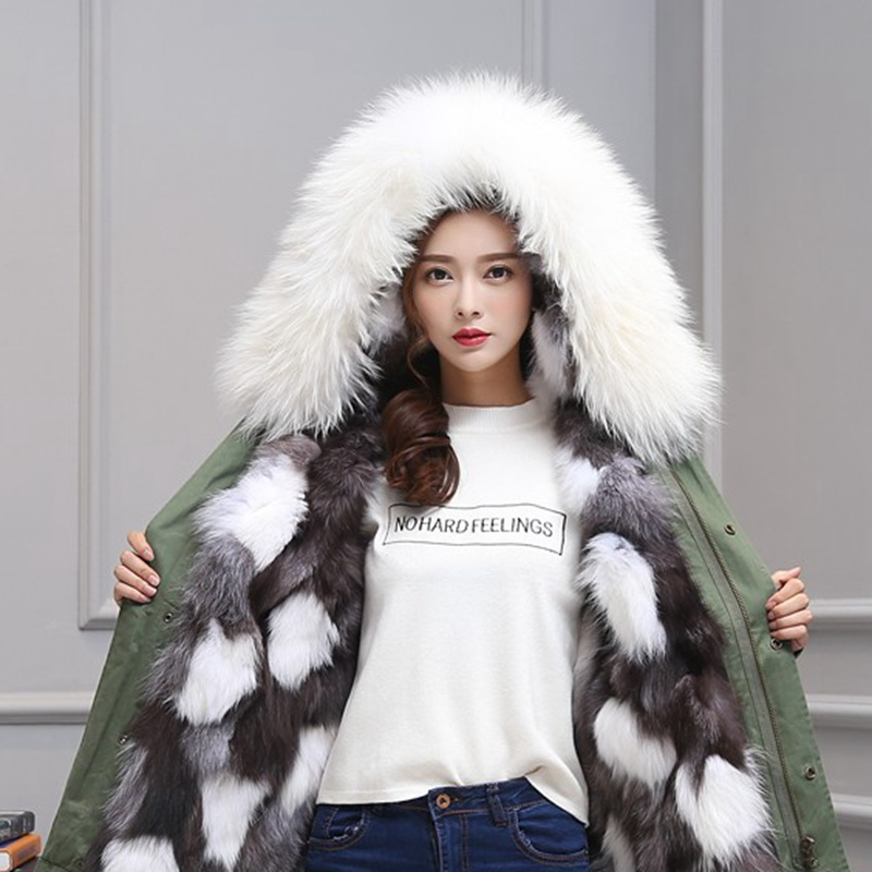 Thick winter jacket women jackets natural raccoon fur collar womens hooded long parka warm casual red parkas real fox fur coat woman winter jacket fur natural fox fur genuine leather jacket long winter coat sleeve three quarter thick womens down jackets