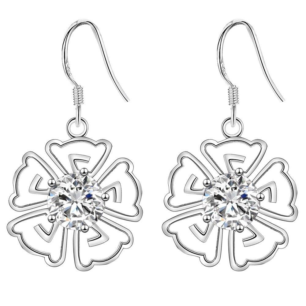 3b74a724a7491b Kwitnące kwiaty piękne wysokiej jakości Srebrne Kolczyki dla kobiet moda  biżuteria kolczyki/VWIQAISP IADGZLWV