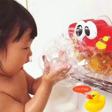Bubble Crab(Free little yellow Duck ) Baby Bath Toys Music Bubble Maker Swimming Bathroom Tool Shower Soap Machine Bathroom