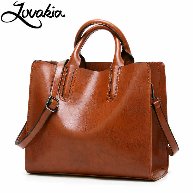 LOVAKIA leather handbags big women bag high quality casual female bags trunk tote spanish brand shoulder bag ladies large bolsos