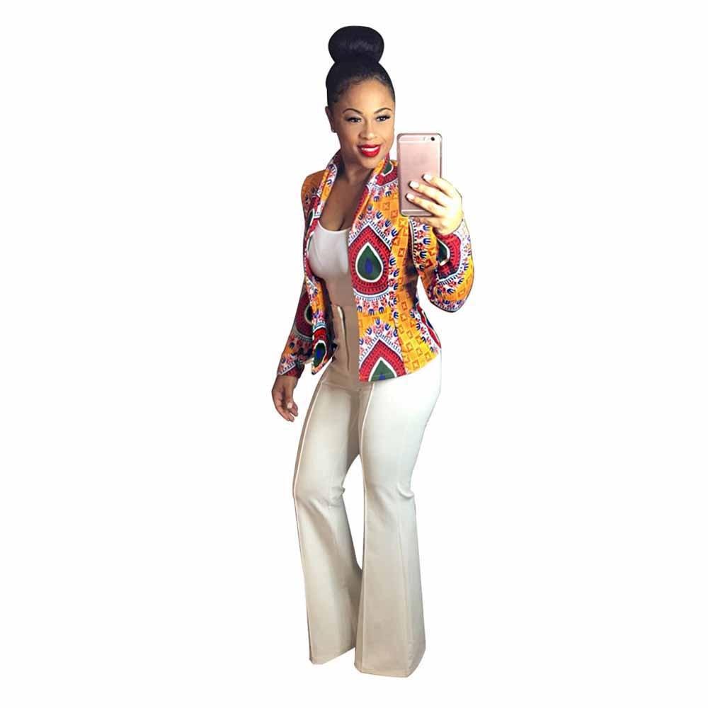 c182ef6ff5 Hot women basic coats Long Sleeve Fashion African Print Dashiki Casual  bomber jackets jaqueta feminina winter jacket women-in Basic Jackets from  Women s ...