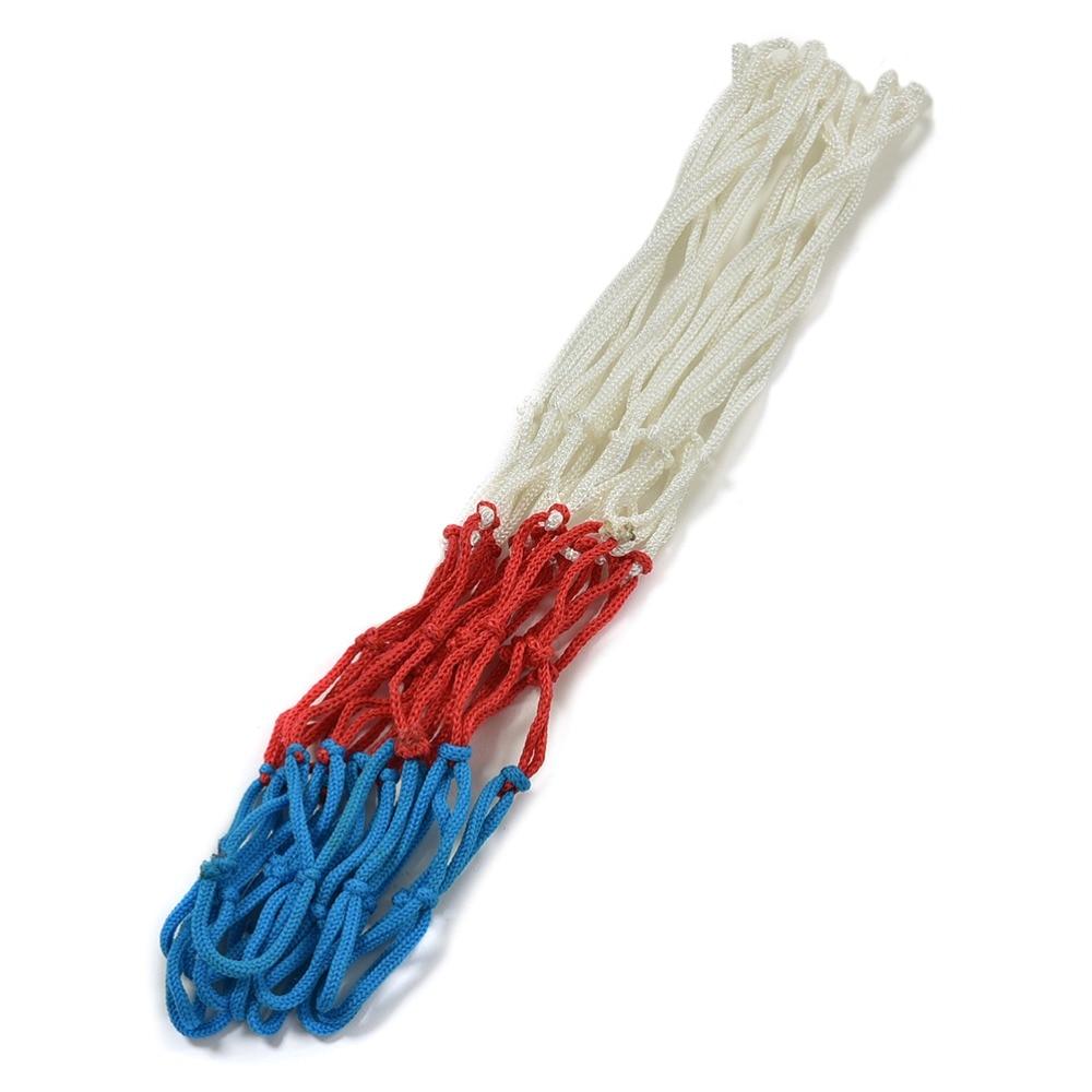 1Pcs Nylon Basketball Net Hoop Goal Rim Mesh Net Red White Blue ...