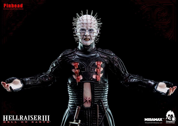 1/6th scale figure Hellraiser III: Hell on Earth Horrible Pinhead 12 Action figure doll Collectible Model plastic toy колонки sven 355 5 вт чёрный