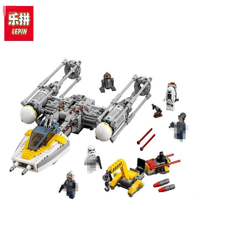 691Pcs Lepin 05065 Star Classic Wars Genuine The Y-wing Starfighter Set Building Blocks Bricks Toys LegoINGlys 75172 for kid lepin 05040 y attack starfighter wing building block assembled brick star series war toys compatible with 10134 educational gift