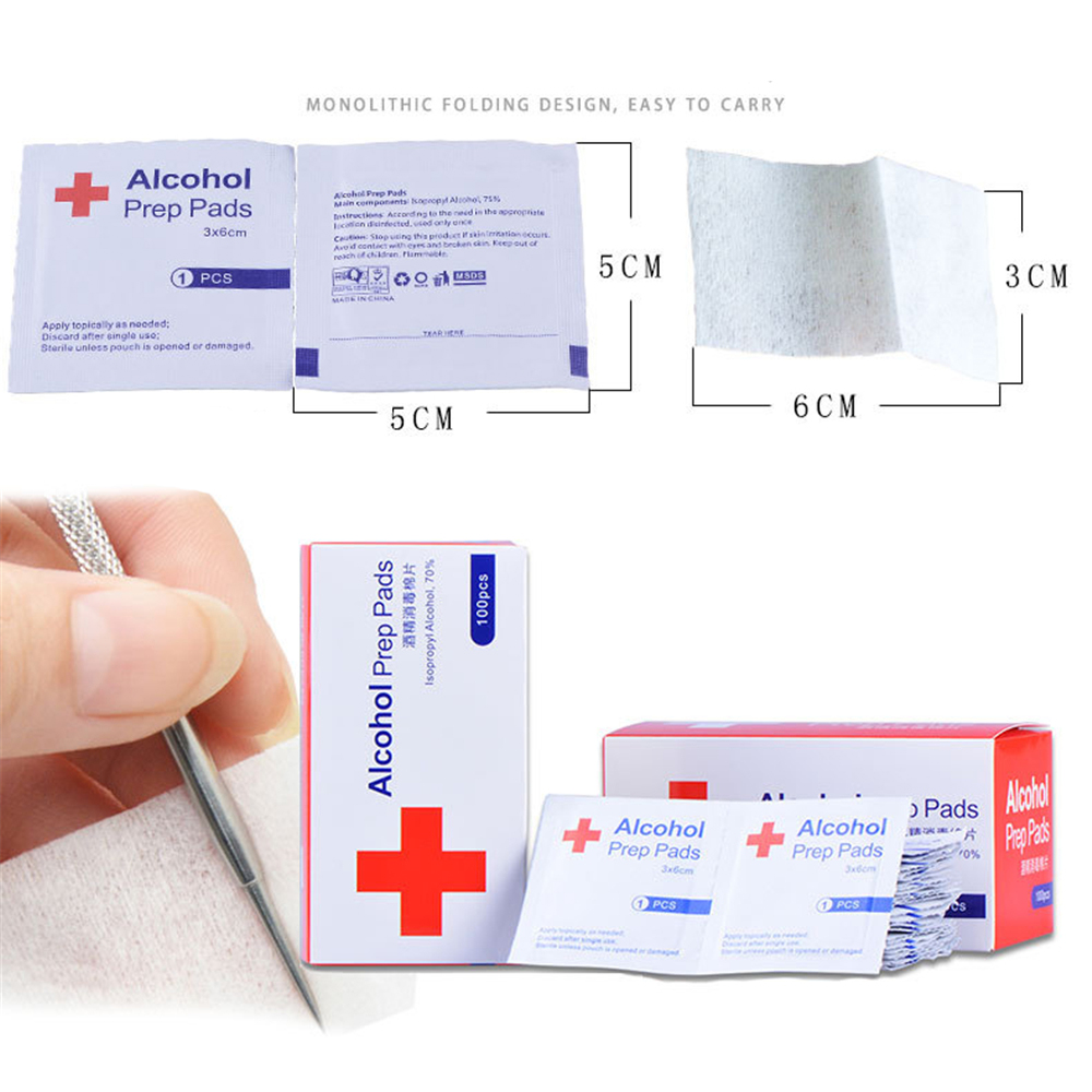 100pcs Alcohol Wipes With Premium Pad Material For Antiseptic Skin And Mobile Phone Cleaning 11