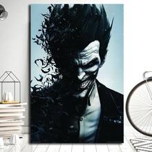 Batman Superhero Joker Bats Poster Marvel Classic Movie Paintings On Canvas Modern Art Wall Pictures Home Decoration