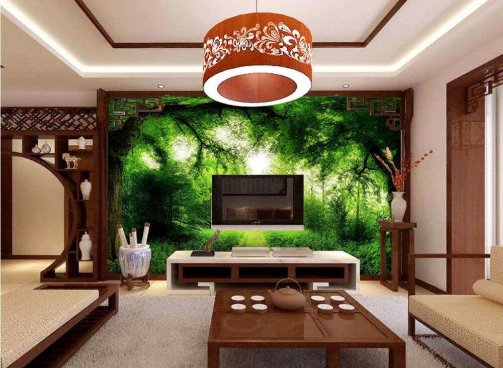 Prodotto personalizzato 3d Wallpaper Paesaggio Foresta ...