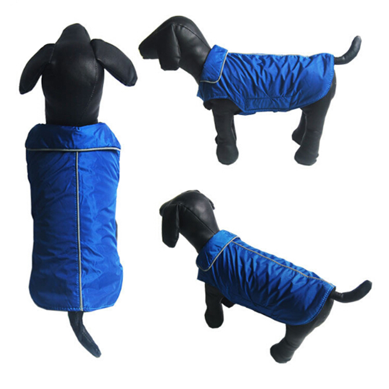 Venxuis Reflecting Trim On Collar And Back Dog Clothing Autumn Waterproof Dog Cloth Pet Spring Dog Coat For Small Dog in Dog Down Parkas from Home Garden