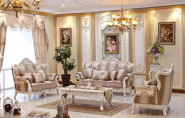 Modern China guangzhou Living Room Furniture Luxury Couch