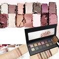 Marca FEBBLE Sombra de Ojos Paleta de Maquillaje Con El Cepillo Ahumado Sombra de Ojos Color Tierra Brillo Luminoso Impermeable Duradera maquillaje