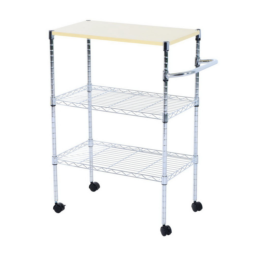 US $36.89 |3 Tier Rolling Kitchen Trolley Cart Steel Island Storage Utility  Service Dining US-in Kitchen Islands & Trolleys from Furniture on ...