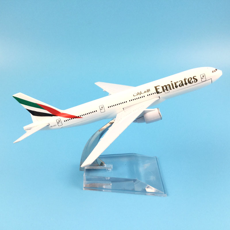 Air Emirates Monolayer Airlines Airplane Model Airbus 777 Airways 16cm Alloy Metal Plane Model w Stand Aircraft toys for childre