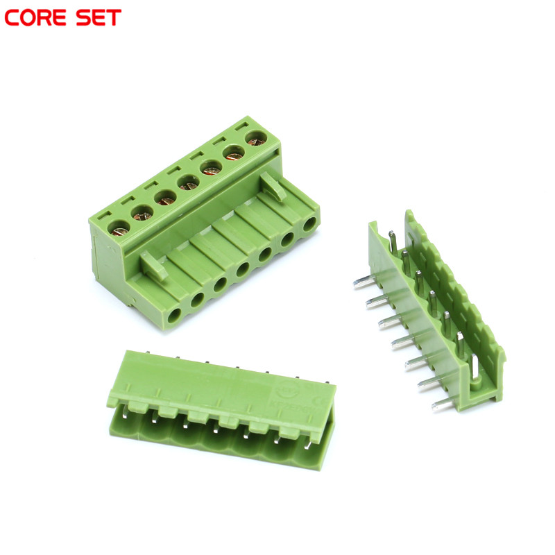 p 63541 5sets 2P/3P/4P/5P/6P/7P/8P/9P/10P KF2EDGK Kit 300V 10A Pluggable Terminal Block Connector 5.08mm Pitch with 2 species socket