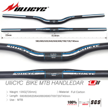 Newest ULLICYC 2019 HOT SALE Mountain Bike Full Carbon Handlebar (Flat/Rise)31.8*580/600/620/640/660/680/700/720/740mm free ship