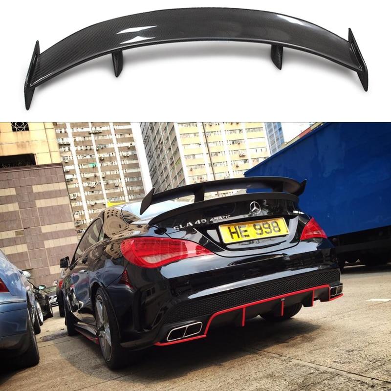 GT Spoiler Aile Couvercle Pour Mercedes-Benz CLASSE CLA W117 CLA45 Carbon Fiber Trunk Aileron Arrière 2013 2014 2015 2016