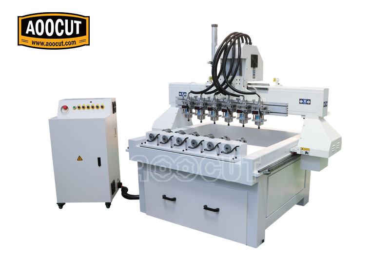 1718 six spindles multi spindle cnc router High Accuracy wood cnc router with multi spindles 3