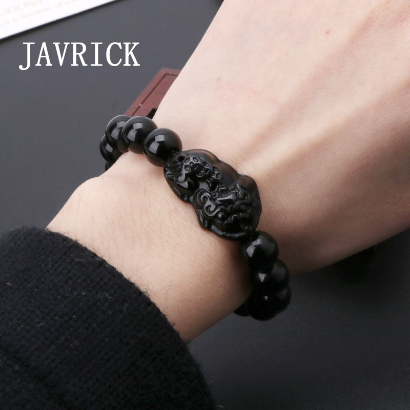 Wealth Bracelet Obsidian-Stone Good-Luck Attract Unisex And Xiu Pi
