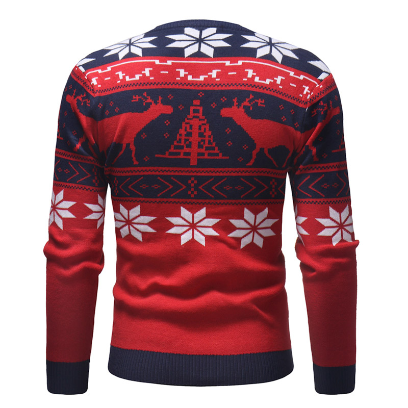 79c41ae2f LetsKeep New ugly christmas sweater men deer printed mens pullover sweaters  winter O neck christmas Clothes men EU size, MA551-in Pullovers from Men's  ...