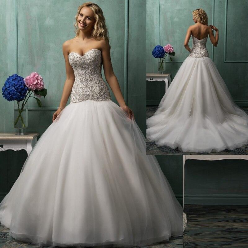 Low Waist Wedding Gowns