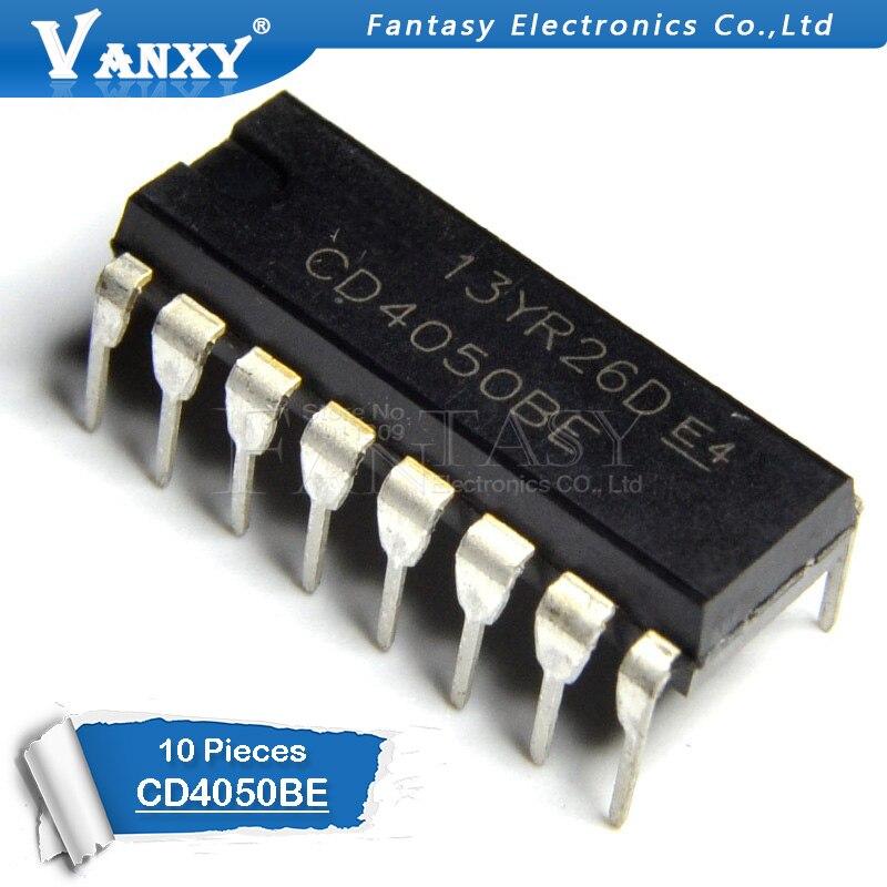 10PCS CD4050BE DIP16 CD4050 DIP 4050BE DIP-16 New And  Original IC