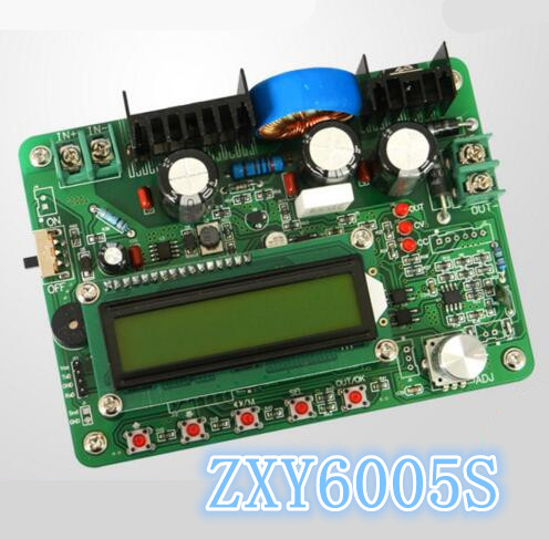 5pcs ZXY6005S NC constant current voltage power supply module programmable Integrated Circuits voltmeter ammeter 60V/5A /300W 5pcs zxy6005s upgraded version zxy6005 constant voltage current power supply module with heat sink voltmeter ammeter 60v 5a