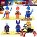 6 unids marvel super hero dragon ball z goku bloques de construcción ladrillos niños juguetes para bebés