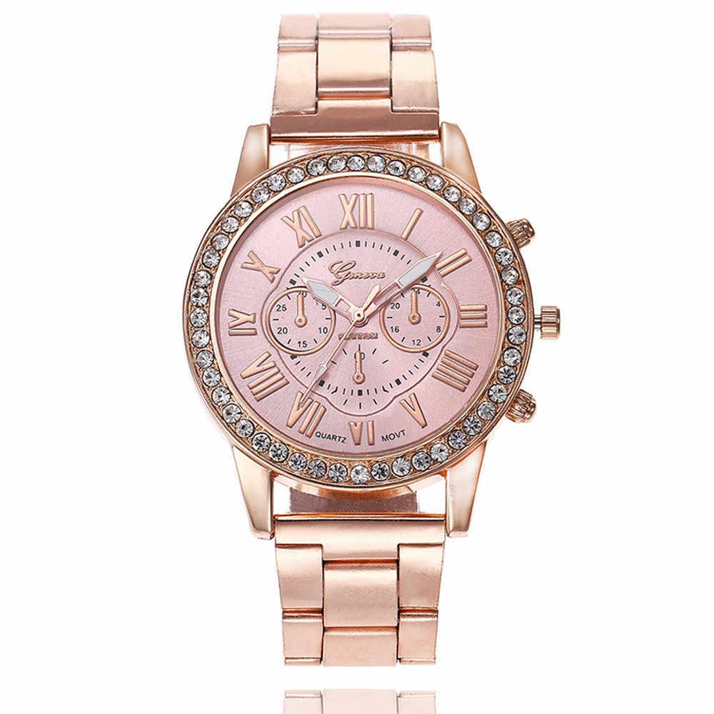 2018 New arrvial đồng hồ Sang Trọng Phụ Nữ ăn mặc đồng hồ Thời Trang Đồng Hồ Đơn Giản thép Không gỉ Analog Quartz Đồng Hồ Đeo Tay relojes mujer