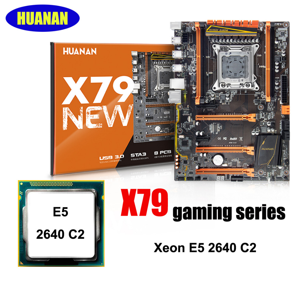 Recommended HUANAN ZHI deluxe X79 LGA2011 motherboard with CPU Intel <font><b>Xeon</b></font> E5 <font><b>2640</b></font> C2 2 years warranty all tested before shipping image