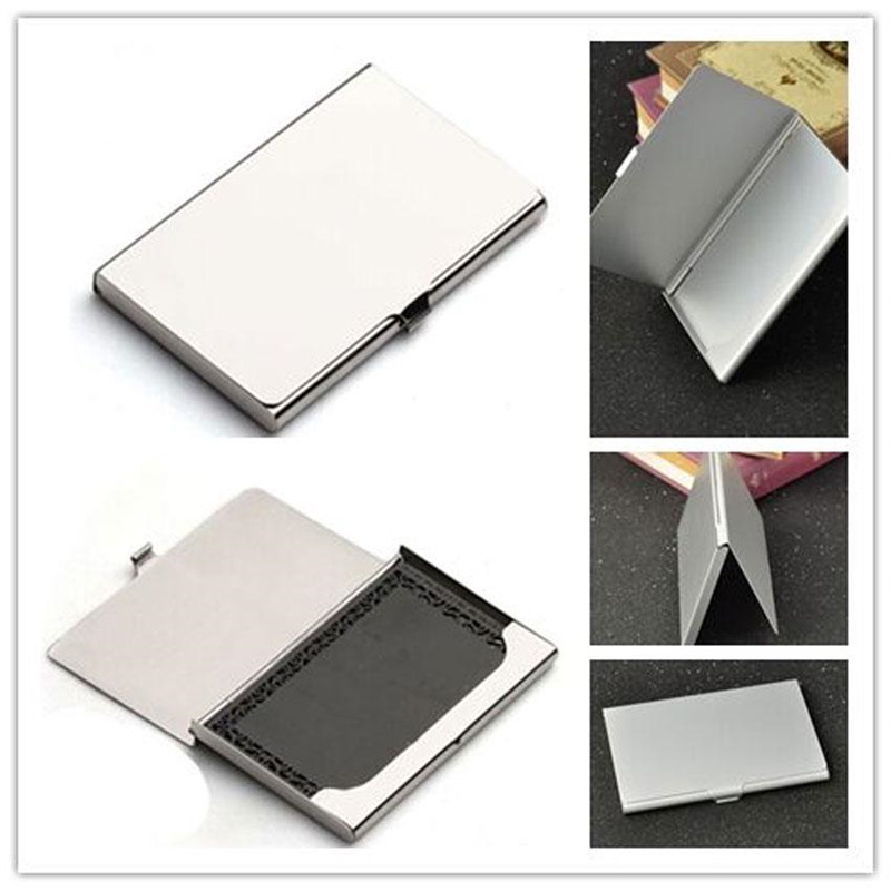 Useful Pocket Business Card Holder Business Name Credit ID Card Holder Box Metal Aluminium Alloy Office Box Case