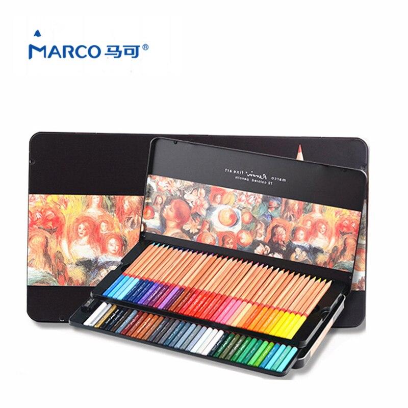 Marco Renoir 24/36/48/72 Colors Pencil Art Supplies lapis de cor Professional Drawing School Supplies
