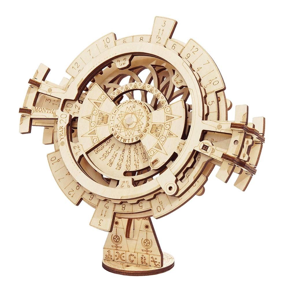 Toy Perpetual-Calendar Wooden Puzzle Robotime Game-Assembly Gift DIY 3D for LK201 New-Arrival