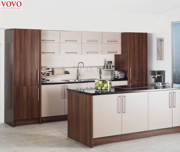 Contemporary Style Melamine Kitchen Cabinet