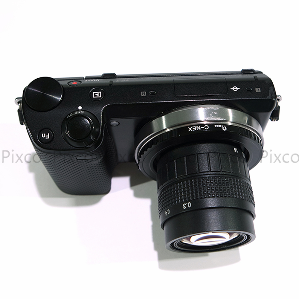 Pixco APS-C Television CCTV 50mm F1.8 Lens for C Mount Camera 16mm C Mount Adapter for FujiFilM Fuji Film X-Pro 1 X-E1 X-M1 FX Camera