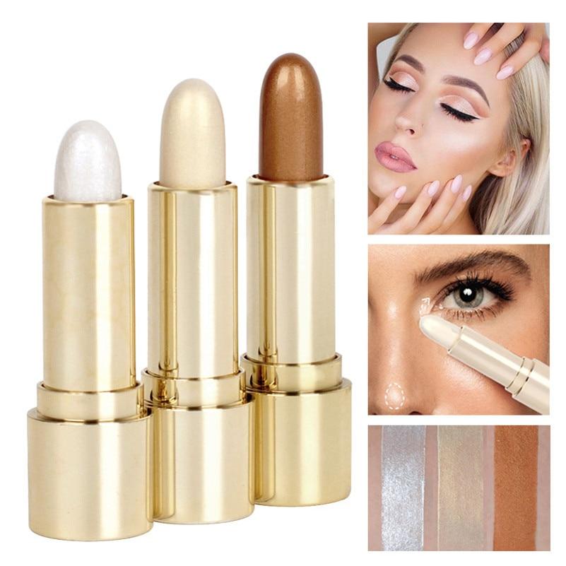 1Pcs Face Waterproof Shimmer Contour Highlighter Stick Texture Light Brilliant Makeup Beauty Contour Eyeshadow Eye Liner Pencil
