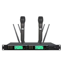 Bolymic dual wireless microfone karaoke sistema true diversity performance de palco karaokê vocal profissional ur24d digital uhf
