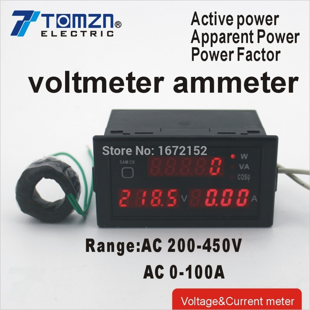 Ammeter And Voltmeter : D v a multi functional led display panel