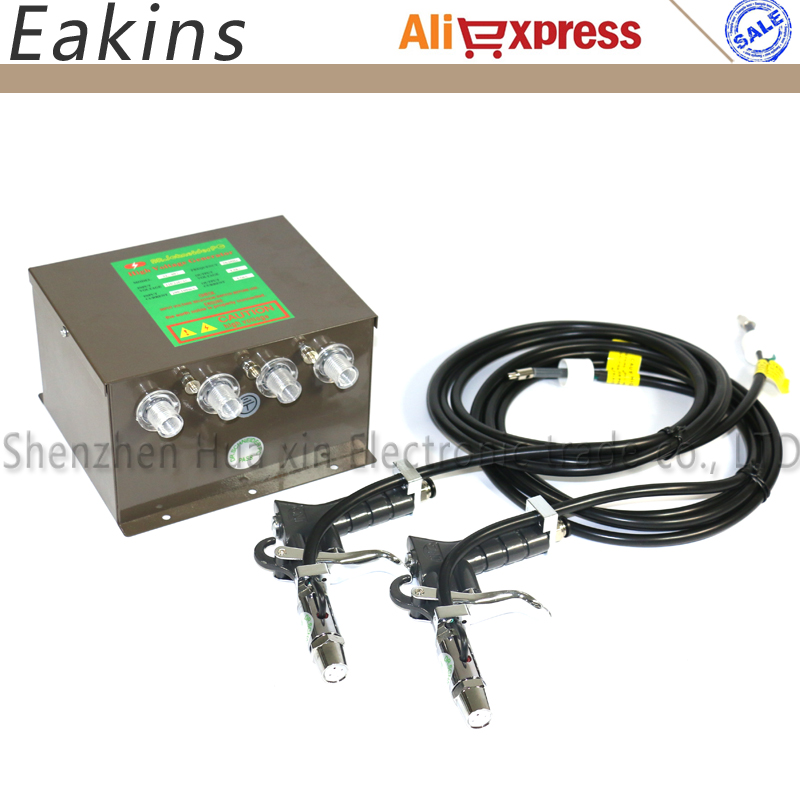 4 in 1 SL-007 Static eliminator High voltage generator Power supply+2 pcs SL-004 ESD Ionizing Air Gun Lonizing air blower цена