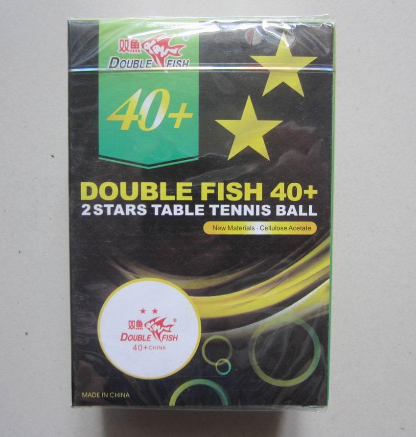 Оригинальный двойной рыбы новый материал 40 + есть шов настольный теннис мяч 2 звезды профессиональной подготовки и общего конкурса оптовая ...