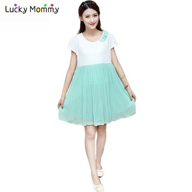 696ff20cc Maternidad de algodón moda más tamaño ropa embarazo para mujeres embarazadas  Casual maternidad vestidos Gravida Roupa